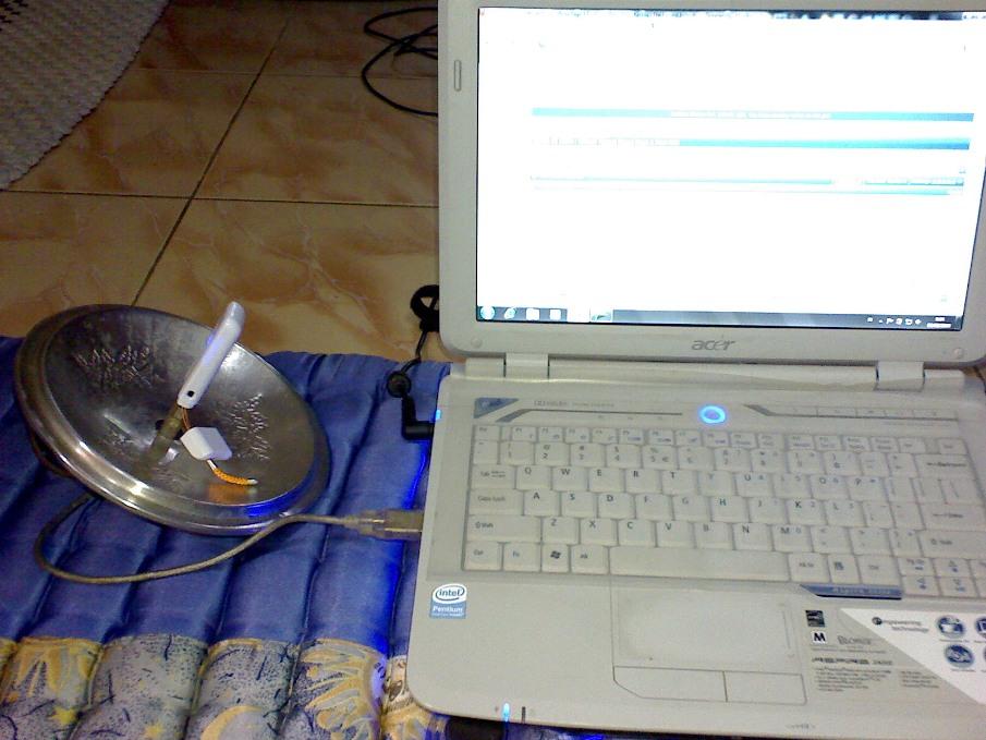 Antena Penguat Sinyal Wifi dan MODEM HSDPA/GSM/CDMA bikinan Sendiri