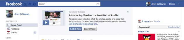 fb timeline notification