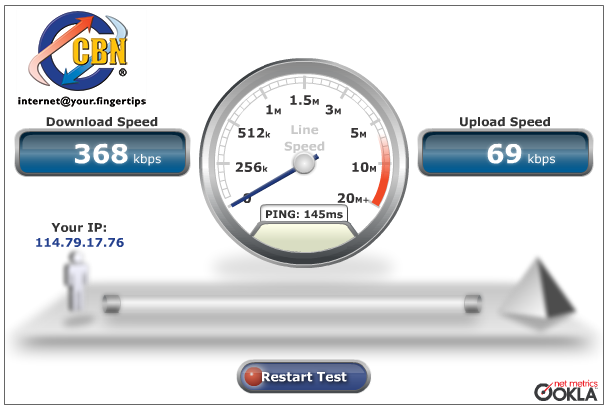 hasil speedtest.cbn.net.id